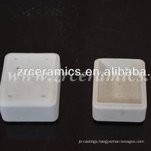 al2o3 99.5 Rectangle Ceramic crucible