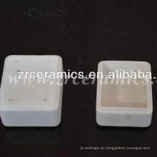 al2o3 99.5 retângulo de cerâmica cadinho