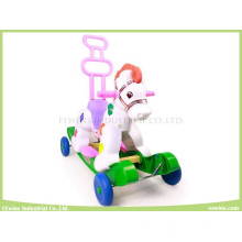Switchable Toys Ride-on Horse with Music and Light (ride-on or push forward)