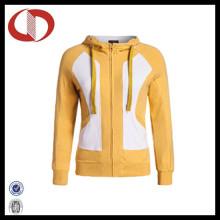 Großhandelsfrauen-volle Reißverschluss-Sportkleidung-Jacke mit kundenspezifischem Firmenzeichen