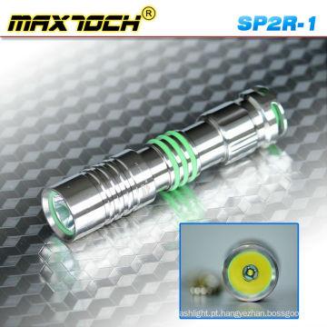 Maxtoch SP2R-1 inox levou Cree portátil Torchlight