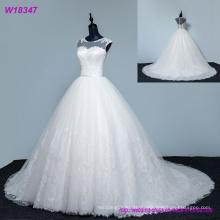 Encantadores vestidos de novia Tulle con cuentas una línea cariño sin mangas país vestidos de novia vestidos de bola