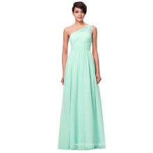 Kate Kasin One Shoulder Chiffon Light Green Long Bridesmaid dress KK000200-2
