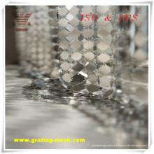 Grillage décoratif argenté / maille de rideau en métal pour la construction