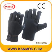 Cultivo de algodón oscuro de algodón Guantes de trabajo de seguridad industrial (41020)