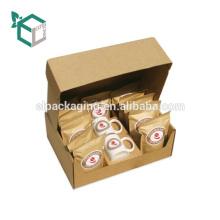 Pequeña caja de empaquetado reciclada del precio de fábrica con el parte movible de la espuma