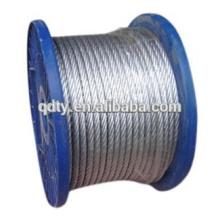 Gréement matériel fabricant immersion chaude galvanisée câble acier 7 * 19