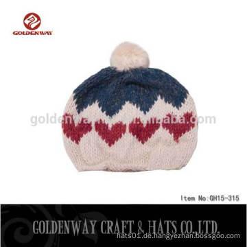 2016 Kundenspezifische Baumwollstickerei strickte Hip Hop Beanie Hut