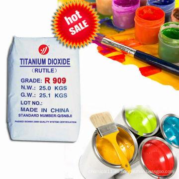 Pigmento blanco dióxido de titanio R909 con precio de fábrica