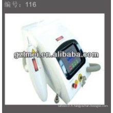 Q Switch ND YAG Laser Tattoo Removal avec deux pointes laser