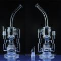 Tubo de água do reciclador de vidro para fumar com Sprinkler Perc (ES-GB-036)