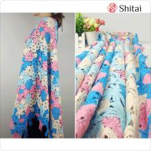 Multi colorful embroidery fabric for dress