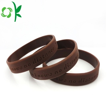 Single Color inspringing armbanden Waterproof siliconen polsbandjes