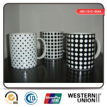Check Design Porcelain Mug for Promotion