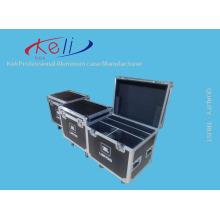 Caja de herramientas de aluminio dura con cerradura portable del precio bajo de la fábrica caja de vuelo con la espuma (KELI-Flight-03)