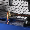 Compresor de aire de pie conducido por correa de color personalizado modelo popular