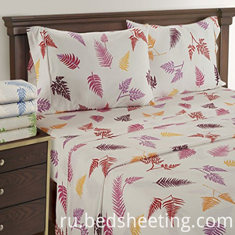 Fern Printing Organic Cotton Sateen Sheets