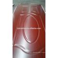 Piel de la puerta de melamina HDF de color rojo oscuro, oscuro y antiguo.