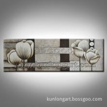 Modern White Flower Oil Painting for Home Decor (KLFW-0025)