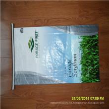 Venta caliente y alta calidad BOPP laminado PP tejido arroz bolsas