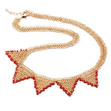 Moda de luxo antigo real banhado a ouro colar de jóias ou cadeia -40935