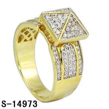Nuevos diseños 925 plata esterlina micro ajuste señora anillo oro chapado.