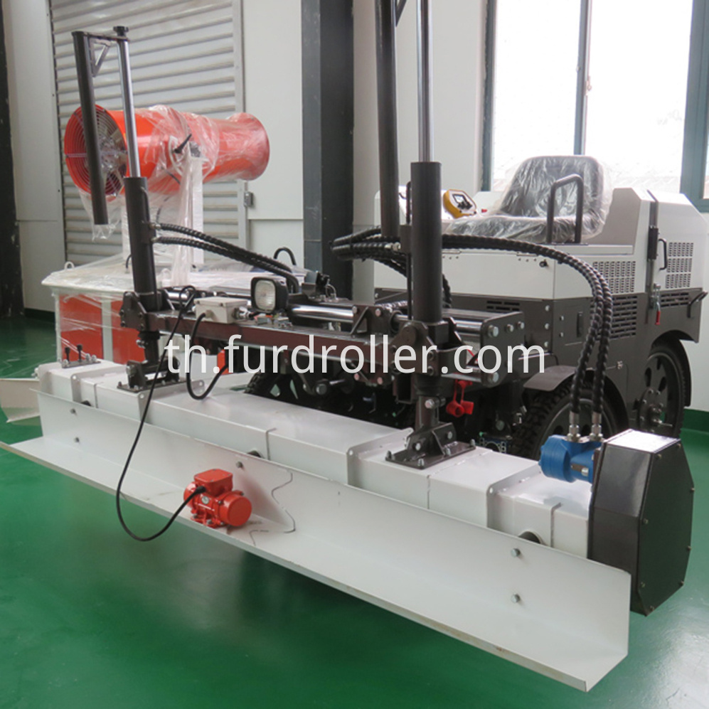 laser screed concrete machine