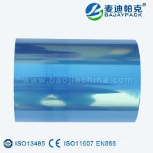 Rollo de película médico transparente verde / azul / púrpura del alto Tempreture para la fabricación de la bolsa / de los carretes