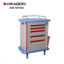 ABS Plastic Hospital Patient Emergency Drug Suppliers Medicine Trolley