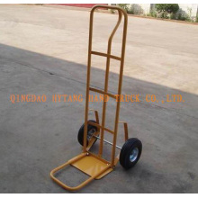 "lifting and storage hand trolley,10x2.5""solid wheel.toe plat"