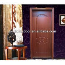 Simple Puertas de madera de diseño interior de madera mdf puerta de melamina sin pintura