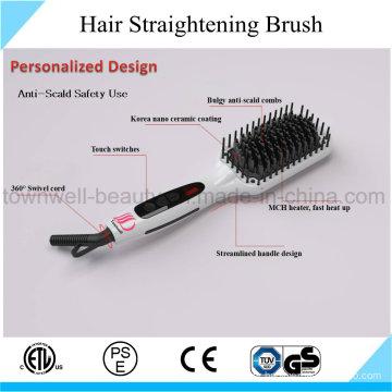 Tourmaline Ceramic Coating Mch Ionic Hair Brush Iron