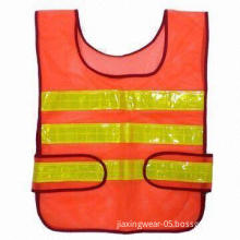 Mesh Reflective Vest, Made of 100% Polyester Material, Available in Different Sizes and Patterns