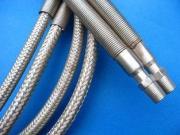 Silver PTFE Teflon Tube , PTFE Teflon Pipe Wrapped Stainles
