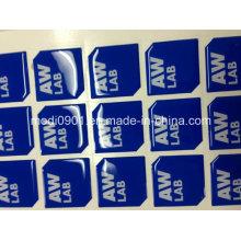 Paquet d'autocollant de dôme de résine époxyde clair autocollants époxydes Étiquette de vinyle de fabricant personnalisé