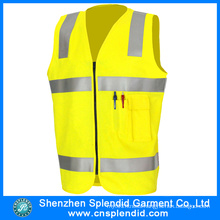 High Quality High Visibility Reflective Safety Vest with Pocket