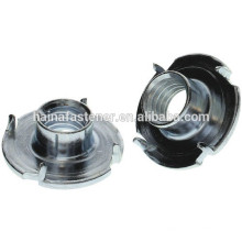 Steel material claw nuts, four claw tee nut ,Insert Tee Claw Nuts