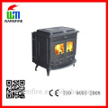CE and EN13240 Approved freestanding cast iron wood burning fireplace