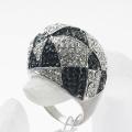 High quality Hot Sale!Rhinestones real rhodium Plated rhinestone setting metal finger ring