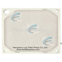 Placa de filtro de la placa de la membrana de la prensa del filtro de Leo, placa de la prensa del filtro de la membrana / placa de filtro de la cámara empotrada del filtro de Leo