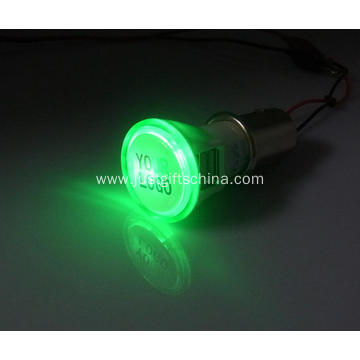 Promotional Imprinted Bright Car Charger Round Shape