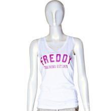 Soft 100% Cotton Sleeveless Clothes Women Sport Singlet