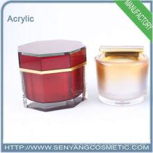 Mini frasco cosmético redondo del acrílico, botella de embalaje de la capacidad pequeña