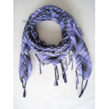 Square tartan head scarf for men