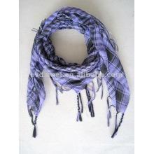 Square tartan head scarf for men