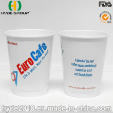 8 Oz Printed Double Wall Insolated Disposable White Hot Cup