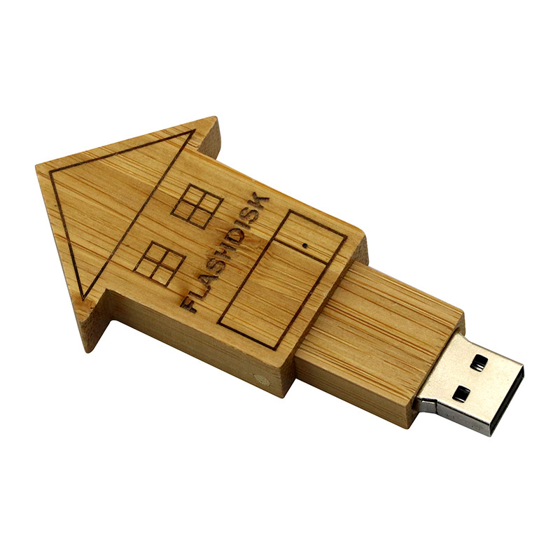 Wooden House Pen Drive