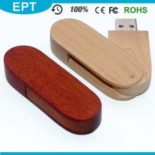 USB 2.0 Schnittstelle Typ Gravur Logo Holz USB-Stick für kostenlose Probe