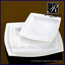 P & T Porzellan Fabrik Küchengeschirr Porzellan quadratischen Platte
