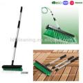 BSCI deachable handle flow water garden broom, PAHS deck brush for garden and outdoors, garden brush for floor cleaner